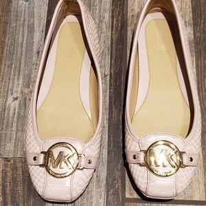 Michael Kors Lillie Leather Pale Pink Moccasin